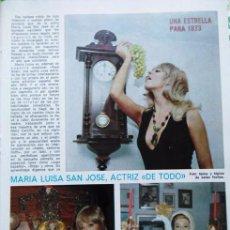 Coleccionismo de Revistas y Periódicos: RECORTE MARIA LUISA SAN JOSE. Lote 56514382