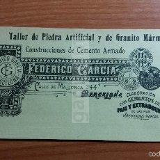 Colecionismo de Revistas e Jornais: ANUNCIO DE BARCELONA , CONSTRUCCIONES DE CEMENTO ARMADO -AÑO 1909- (REFAN6)** . Lote 56519630