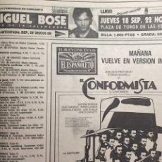 Coleccionismo de Revistas y Periódicos: ABC 1986 MIGUEL BOSÉ, ROCÍO DÚRCAL, FRANK SINATRA. Lote 56546177