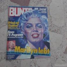 Colecionismo de Revistas e Jornais: REVISTA BUNTE,MAYO-86, SOLO REPORTAJE DE MARILYN MONROE, 7 PAGINAS,EN ALEMAN, 7 FOTOS. Lote 56560980