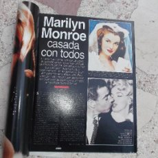 Colecionismo de Revistas e Jornais: LECTURAS,NUMERO Y FECHA DESCONOCIDO, DE MARILYN MONROE, 5 PAGINAS, 9 FOTOS . Lote 56563037