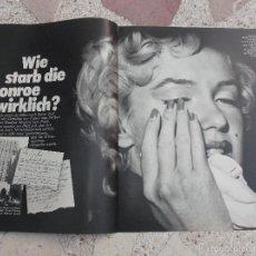 Colecionismo de Revistas e Jornais: REVISTA BUNTE, SIN FECHA,SOLO EL REPORTAJE DE MARILYN MONROE, 4PAGINAS,5 FOTOS . Lote 56564476