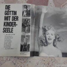 Colecionismo de Revistas e Jornais: REVISTA BUNTE, SIN FECHA,SOLO EL REPORTAJE DE MARILYN MONROE, 6 PAGINAS ,8 FOTOS ,EN ALEMAN. Lote 56564737