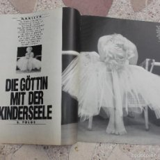 Colecionismo de Revistas e Jornais: REVISTA BUNTE, SIN FECHA,SOLO EL REPORTAJE DE MARILYN MONROE, 4 PAGINAS ,4 FOTOS ,EN ALEMAN. Lote 56564935