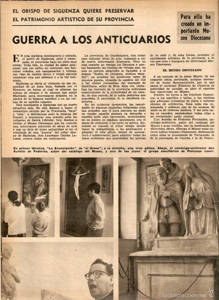 AÑO 1968 HISTORIA REINA MARIA DE LAS MERCEDES PATRIMONIO ARTISTICO SIGUENZA CINE JEANNE MOREAU (Coleccionismo - Revistas y Periódicos Modernos (a partir de 1.940) - Otros)