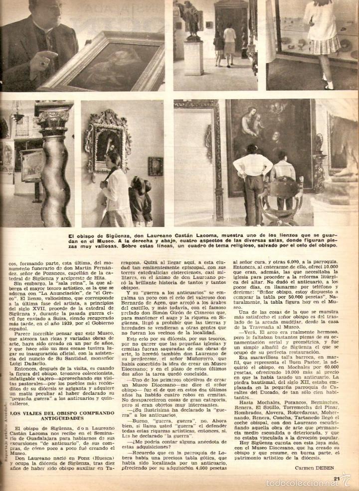 Coleccionismo de Revistas y Periódicos: AÑO 1968 HISTORIA REINA MARIA DE LAS MERCEDES PATRIMONIO ARTISTICO SIGUENZA CINE JEANNE MOREAU - Foto 2 - 56585984