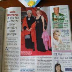 Coleccionismo de Revistas y Periódicos: RECORTE LOLA HERRERA. Lote 56590603