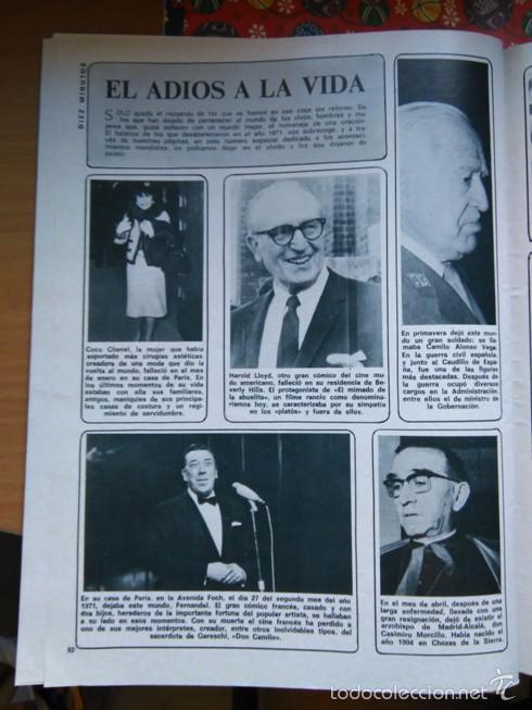 RECORTE FERNANDEL COCO CHANEL (Coleccionismo - Revistas y Periódicos Modernos (a partir de 1.940) - Otros)