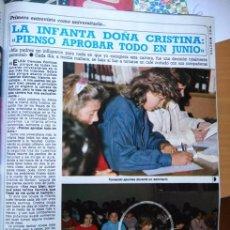 Coleccionismo de Revistas y Periódicos: RECORTE INFANTA CRISTINA. Lote 56614593