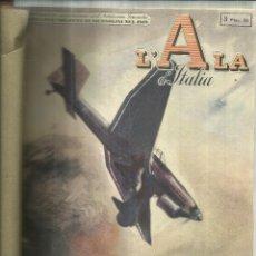 Coleccionismo de Revistas y Periódicos: 10 NÚMEROS ENCUADERNADOS DE LA REVISTA ITALIANA DE AVIACIÓN. L'ALA D'ITALIA. MILAN. 1941. Lote 56628412