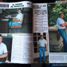 Coleccionismo de Revistas y Periódicos: RECORTE CARLOS MARTINEZ DE IRUJO FITZ JANES STUART DUQUE DE HUESCAR . Lote 56644218