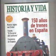 Coleccionismo de Revistas y Periódicos: HISTORIA Y VIDA REVISTA NUMERO 367: 150 AOS DE TRENES EN ESPAA. Lote 56710139