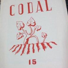 Coleccionismo de Revistas y Periódicos: REVISTA CODAL Nº 15 INSTITUTO DE ESTUDIOS RIOJANOS LOGROÑO JULIO-SEPTIEMBRE 1952. Lote 56717233