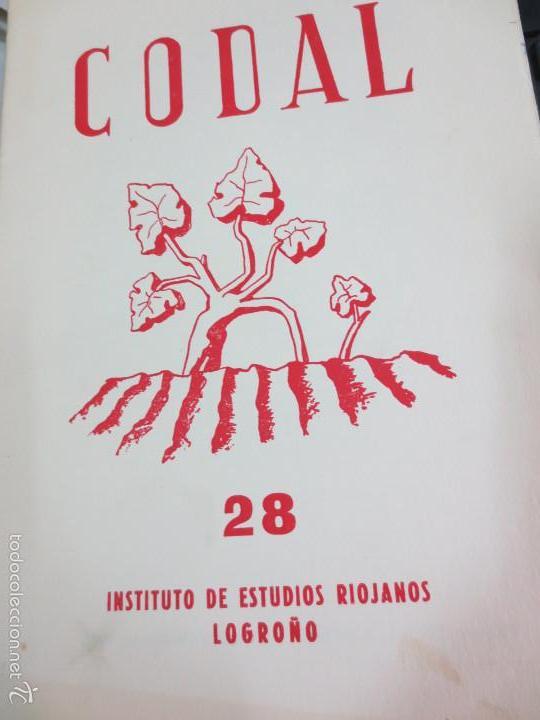 REVISTA CODAL Nº 28 INSTITUTO DE ESTUDIOS RIOJANOS LOGROÑO OCTUBRE-DICIEMBRE 1955 (Coleccionismo - Revistas y Periódicos Modernos (a partir de 1.940) - Otros)