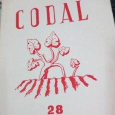 Coleccionismo de Revistas y Periódicos: REVISTA CODAL Nº 28 INSTITUTO DE ESTUDIOS RIOJANOS LOGROÑO OCTUBRE-DICIEMBRE 1955. Lote 56717250