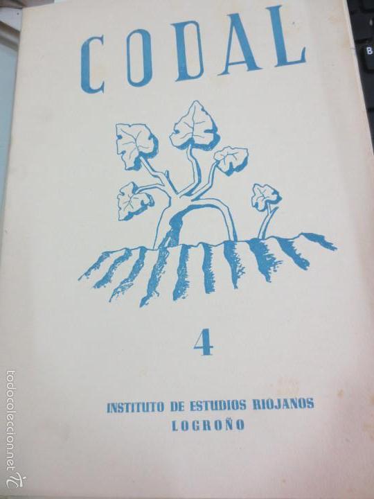 REVISTA CODAL Nº 4 INSTITUTO DE ESTUDIOS RIOJANOS LOGROÑO OCTUBRE-DICIEMBRE 1949 (Coleccionismo - Revistas y Periódicos Modernos (a partir de 1.940) - Otros)