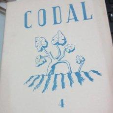 Coleccionismo de Revistas y Periódicos: REVISTA CODAL Nº 4 INSTITUTO DE ESTUDIOS RIOJANOS LOGROÑO OCTUBRE-DICIEMBRE 1949. Lote 56717307