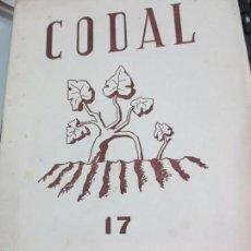 Coleccionismo de Revistas y Periódicos: REVISTA CODAL Nº 17 INSTITUTO DE ESTUDIOS RIOJANOS LOGROÑO ENERO-MARZO 1953. Lote 56717338