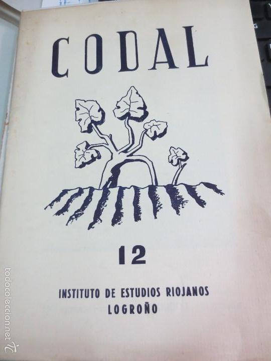 REVISTA CODAL Nº 12 INSTITUTO DE ESTUDIOS RIOJANOS LOGROÑO OCTUBRE- DICIEMBRE 1951 (Coleccionismo - Revistas y Periódicos Modernos (a partir de 1.940) - Otros)