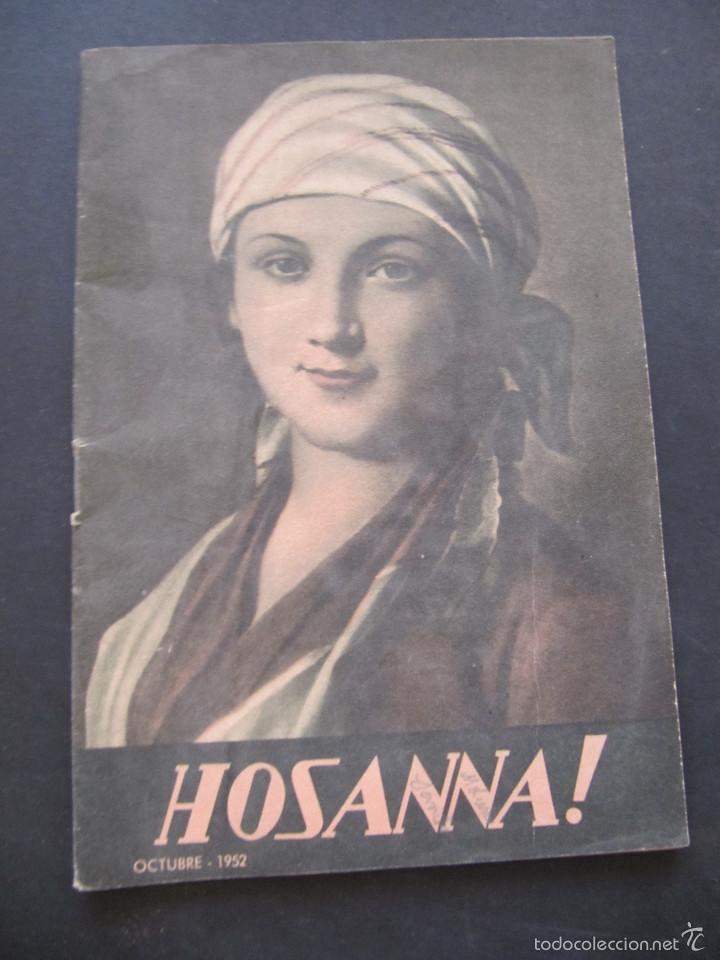 REVISTA HOSANNA! OCTUBRE 1952 (Coleccionismo - Revistas y Periódicos Modernos (a partir de 1.940) - Otros)
