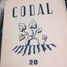 Coleccionismo de Revistas y Periódicos: REVISTA CODAL Nº 20 INSTITUTO DE ESTUDIOS RIOJANOS LOGROÑO OCTUBRE- DICIEMBRE 1953. Lote 56737429