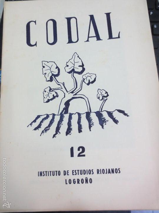 REVISTA CODAL Nº 12 INSTITUTO DE ESTUDIOS RIOJANOS LOGROÑO OCTUBRE-DICIEMBRE 1951 (Coleccionismo - Revistas y Periódicos Modernos (a partir de 1.940) - Otros)