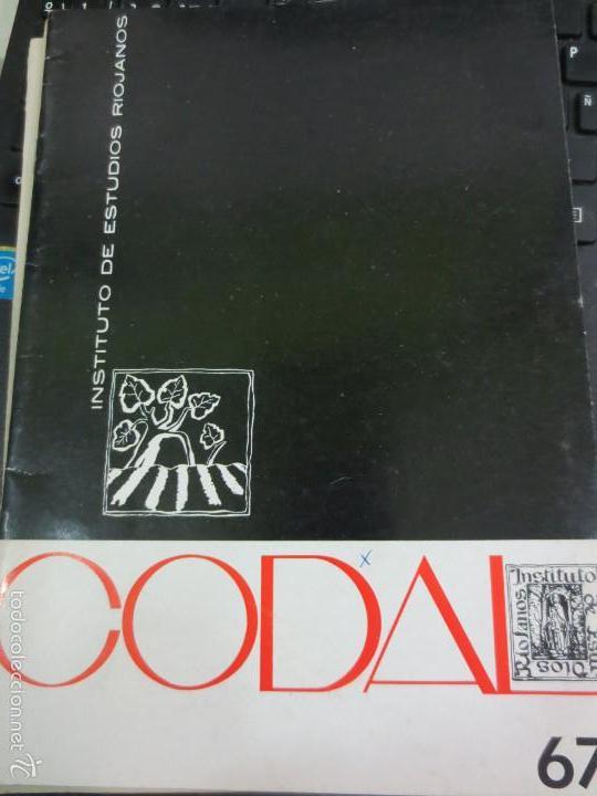 REVISTA CODAL Nº 67 INSTITUTO DE ESTUDIOS RIOJANOS LOGROÑO JULIO-SEPTIEMBRE 1965 (Coleccionismo - Revistas y Periódicos Modernos (a partir de 1.940) - Otros)