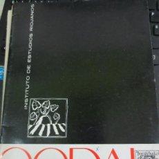 Coleccionismo de Revistas y Periódicos: REVISTA CODAL Nº 67 INSTITUTO DE ESTUDIOS RIOJANOS LOGROÑO JULIO-SEPTIEMBRE 1965. Lote 56737617