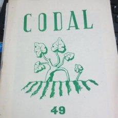 Coleccionismo de Revistas y Periódicos: REVISTA CODAL Nº 49 INSTITUTO DE ESTUDIOS RIOJANOS LOGROÑO ENERO-MARZO 1961. Lote 56737639