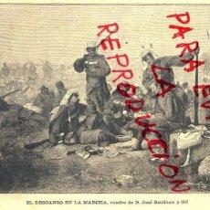 Coleccionismo de Revistas y Periódicos: JOSE BENLLIURE 1891 DESCANSO EN MARCHA HOJA REVISTA. Lote 56749857