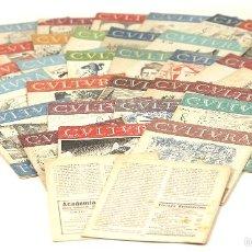 Coleccionismo de Revistas y Periódicos: LP-245 - REVISTA SEMANAL CULTURA Y FOLKLORE. 34 EJEMP.(VER DESCRIP). EDI. MILANS. 1954.. Lote 56779594