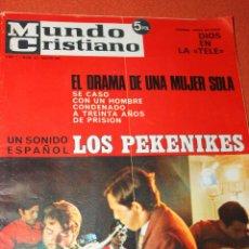 Coleccionismo de Revistas y Periódicos: REVISTA MUNDO CRISTIANO 1967, UN SONIDO ESPAÑOL LOS PEKENIKES, AMPLIO REPORTAJE. Lote 56806252