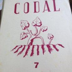 Coleccionismo de Revistas y Periódicos: REVISTA CODAL Nº 7 ISTITUTO DE ESTUDIOS RIOJANOS LOGROÑO JULIO-SEPTIEMBRE 1950. Lote 56871309