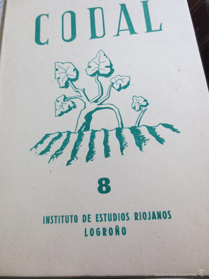 REVISTA CODAL Nº 8 ISTITUTO DE ESTUDIOS RIOJANOS LOGROÑO OCTUBRE-DICIEMBRE 1950 (Coleccionismo - Revistas y Periódicos Modernos (a partir de 1.940) - Otros)