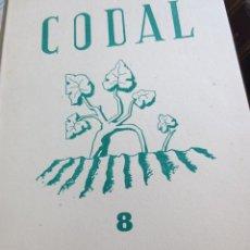 Coleccionismo de Revistas y Periódicos: REVISTA CODAL Nº 8 ISTITUTO DE ESTUDIOS RIOJANOS LOGROÑO OCTUBRE-DICIEMBRE 1950. Lote 56871328