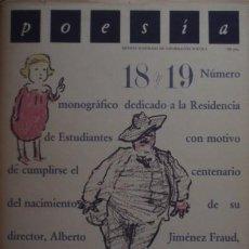 Coleccionismo de Revistas y Periódicos: POESÍA. REVISTA ILUSTRADA DE INFORMACIÓN POÉTICA Nº 18 Y 19 - EDITORA NACIONAL. Lote 56874991