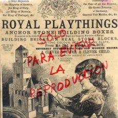 Coleccionismo de Revistas y Periódicos: LONDRES 1887 ROYAL PLAYTHINGS HOJA REVISTA. Lote 56881413