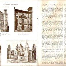 Coleccionismo de Revistas y Periódicos: AÑO 1959 HISTORIA DE VALLADOLID CIUDAD CATEDRAL MONUMENTOS QUIJOTE ZORRILLA SEMANA SANTA MUSEO. Lote 56909759