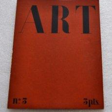 Coleccionismo de Revistas y Periódicos: REVISTA ART. Nº3, DICIEMBRE DE 1933. JUNTA MUNICIPAL DE EXPOSICIONES DE ARTE (BARCELONA). Lote 56913157