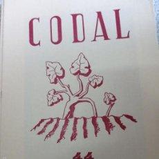 Coleccionismo de Revistas y Periódicos: REVISTA CODAL Nº 44 ISTITUTO DE ESTUDIOS RIOJANOS LOGROÑO OCTUBRE-DICIEMBRE 1959. Lote 57011624
