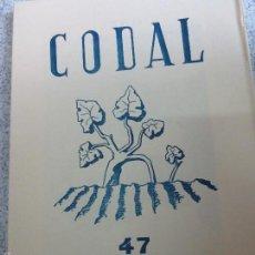 Coleccionismo de Revistas y Periódicos: REVISTA CODAL Nº 47 ISTITUTO DE ESTUDIOS RIOJANOS LOGROÑO JULIO-SEPTIEMBRE 1960. Lote 57011677