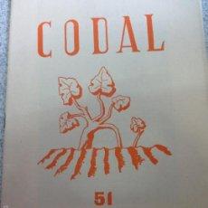 Coleccionismo de Revistas y Periódicos: REVISTA CODAL Nº 51 ISTITUTO DE ESTUDIOS RIOJANOS LOGROÑO JULIO-SEPTIEMBRE 1961. Lote 57011759