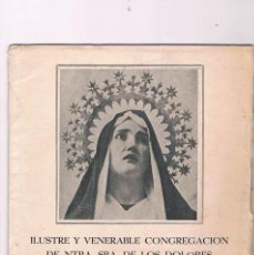 Coleccionismo de Revistas y Periódicos: ILUSTRE Y VENERABLE CONGREGACIÓN DE NUESTRA SEÑORA DE LOS DOLORES GERONA 1954 RELIGIÓN. Lote 57041091