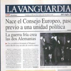 Coleccionismo de Revistas y Periódicos: LA VANGUARDIA AO 1949: NACE EL CONSEJO EUROPEO. Lote 57067402