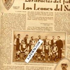 Coleccionismo de Revistas y Periódicos: REVISTA AÑO 1930 FUTBOL ATHLETIC CLUB DE BIBAO CALVARIO DE SAGUNTO JATIVA ARTESA HOCKEY ESPAÑA . Lote 57087580