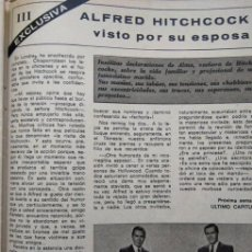 Coleccionismo de Revistas y Periódicos: RECORTE ALFRED HITCHCOCK. Lote 57096185