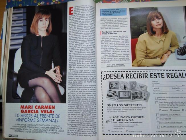 RECORTE MARI CARMEN GARCIA VELA INFORME SEMANAL (Coleccionismo - Revistas y Periódicos Modernos (a partir de 1.940) - Otros)