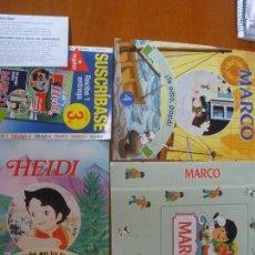 Coleccionismo de Revistas y Periódicos: HEIDI UNO MÁS EN LA FAMILIA. MARCO TE ODIO, PAPÁ Nº 4 + TAPAS. Lote 57120253