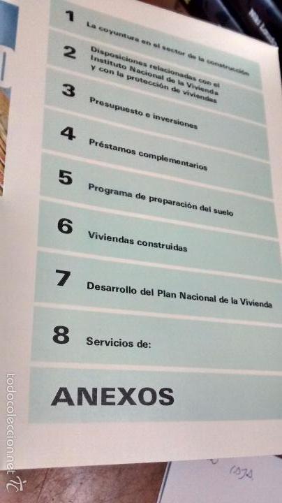 Coleccionismo de Revistas y Periódicos: INSTITUTO NACIONAL DE LA VIVIENDA, MEMORIA DE ACTIVIDADES 1973 + CUADERNILLO DISPOSICIONES LEGALES - Foto 3 - 57121708