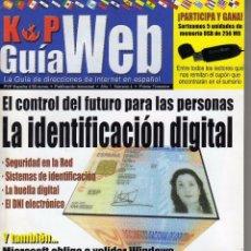 Coleccionismo de Revistas y Periódicos: GUIA WEB, AÑO I NÚMERO 4. K P EDICIONES,GUIA DE DIRECCIONES DE INTERNET EN ESPAÑOL. Lote 57225327